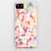 Retro Candy Bokeh iPhone & iPod Case by Sharon Johnstone