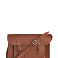 Cambridge Satchel Upwardly Mobile Satchel in Brown - 14in | Mod Retro Vintage Bags | ModCloth.com