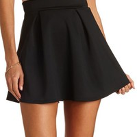 HIGH-WAISTED PLEATED SKATER SKIRT