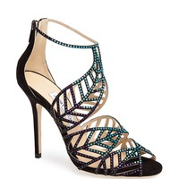 Jimmy Choo 'Kallai Leaf' Detailed Cage Sandal | Nordstrom