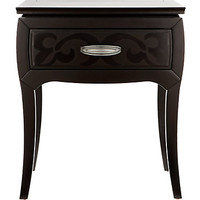 Belle Noir Dark Merlot 1 Drawer Nightstand