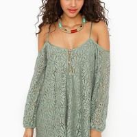 Bowie Crochet Dress in  Clothes Dresses at Nasty Gal