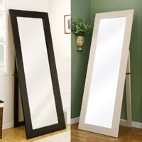 Toby Ivy White Finish Floor Mirror