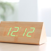 Wood LED Clock