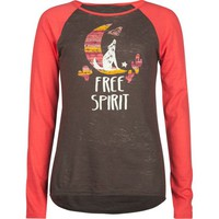 ROXY Free Spirit Girls Baseball Tee