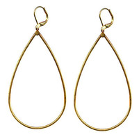 gold tip toe teardrop earrings