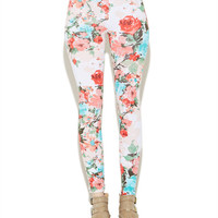 Multicolor Floral Legging | Wet Seal