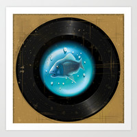 Fish Pop (Vinyl Aquarium) Art Print by Texnotropio