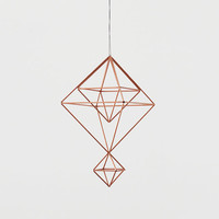 Copper Himmeli no. 6 / Modern Hanging Mobile / Geometric Sculpture / Minimalist Home Decor