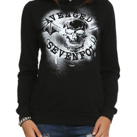 Avenged Sevenfold Spray Logo Girls Pullover Hoodie