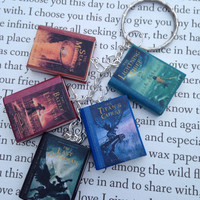 Percy Jackson book charm bracelet/keychain made from polymer clay