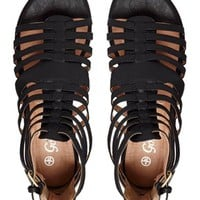 New Look Flight Black Gladiator Sandals