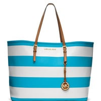 MICHAEL Michael Kors Medium Jet Set Travel Striped Tote