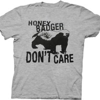 Honey Badger Don't Care Heather Gray Adult T-shirt