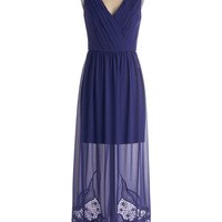 Elegance in Indigo Dress | Mod Retro Vintage Dresses | ModCloth.com