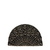 Angela Beads Circular Fan Clutch