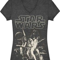 Fifth sun Star Wars e Poster Juniors V-Neck Tee