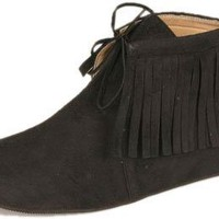 Women's Adult Black Indian Shoes (Size:Medium 7-8)