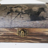 Running Horse Jewelry Storage Chest