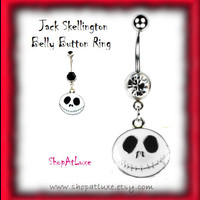 Jack Skellington - From Nightmare Before Christmas - Belly Button Ring