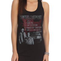 Supernatural Hunters Checklist Girls Tank Top