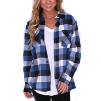 Cozy For Days Unisex Flannel Blue