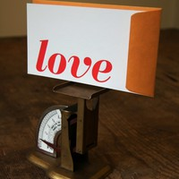 LOVE: Letterpress Flat Card & Envelope (1ct)