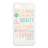 Fashion Bible Verse Personalized iPhone 4 4S Rubber Silicone Case Cover -CCINO