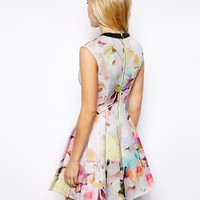 Ted Baker Scuba Dress in Electric Daydream Print