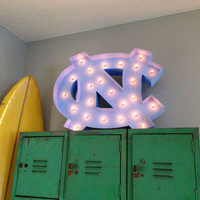 UNC Tar Heels Logo Marquee Light- Official NCAA Licensed Product!
