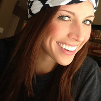 Black and White Safari Twist Turban