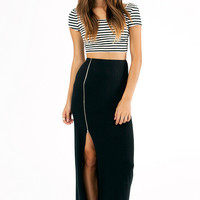 Midnight Hour Zipper Skirt $38