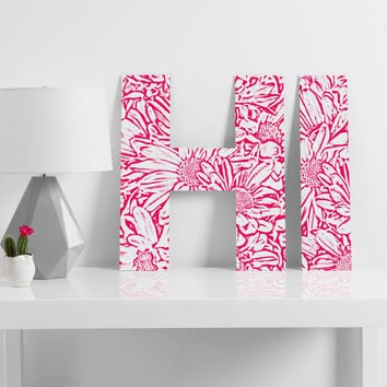 Lisa Argyropoulos Daisy Daisy In Bold Pink Decorative Letters