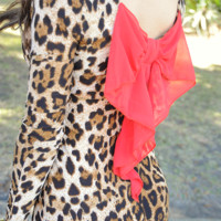 Beautiful In Bows Dress: Cheetah/Red | Hope's