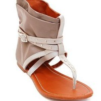 Womens Gladiator Sandals, Ankle Wrap Flats with Buckle Straps & Stud Detail Design