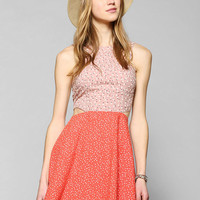 Lucca Couture Pattern-Mix Cutout Dress - Urban Outfitters