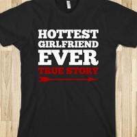 Hottest Girlfriend Ever Valentines Day Couples T Shirt