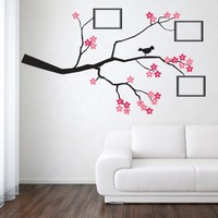 Cherry Blossom Tree With Photo Frames - Wall Sticker from Noah's Art Design | Made By Noah's Art Design | £49.99 | BOUF