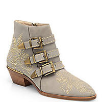 Chloé - Suzanna Studded Suede Ankle Boots - Saks Fifth Avenue Mobile