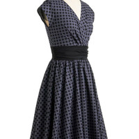 Pretty on the Park Bench Dress in Dots