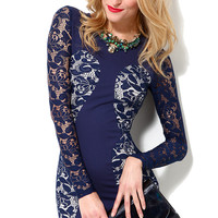 Glamorous Lace Sleeve Bodycon Dress
