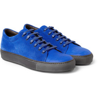 Acne - Adrian Nubuck and Suede Low Top Sneakers | MR PORTER