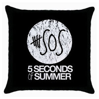 5 SECONDS OF SUMMER Ashton Irwin Calum One Direction SOS Throw Pillow Case
