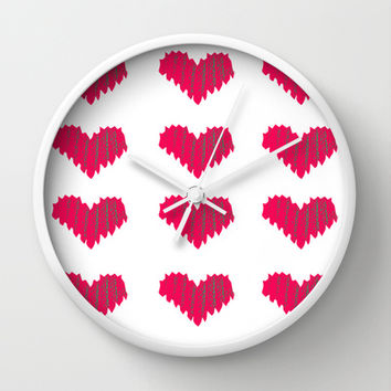 Stiches Wall Clock by Lauren Lee Designs