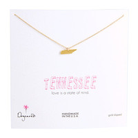 "Dogeared State of Mind Tennessee 18"" Necklace Gold - Zappos.com Free Shipping BOTH Ways"