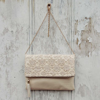 Sage & Lace Tote in Cream