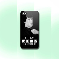 I Am Sherlocked , iPhone 4/4S case, iPhone 5/5s/5c case, Samsung S3/S4 Case, Photo print hard Plastic