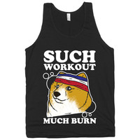 Doge Workout Black, Shibe Doge Workout Clothing, Black American Apparel Tank Top