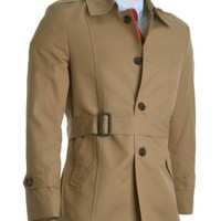 FLATSEVEN Mens Slim Fit Designer Stylish Trench Coat (CT200)