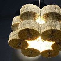 Novel Sculptured Chandeliers - Light Reading by Lula Dot is Made of Books (GALLERY)